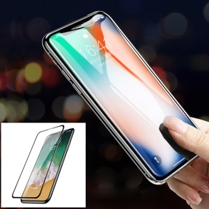 BASEUS 0.3MM 9H 7D Kong Kim Protection Edge Full Screen Tempered Glass Protector for iPhone Xs / X / Xs 5.8 inch - Black