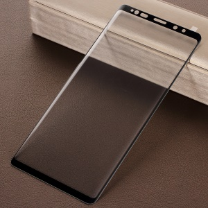 For Samsung Galaxy Note9 9H Arc Edges Silk Printing Tempered Glass Full Size Screen Protector - Black