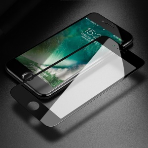 MOCOLO Silk Print Full Size Tempered Glass Screen Protector(Full Glue) for iPhone 8 Plus/7 Plus 5.5 inch - Black