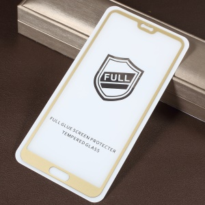 RURIHAI for Huawei P20 Pro 0.26mm 2.5D Curved Tempered Glass Full Size Screen Protector - Gold