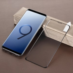 RURIHAI 0.2mm 4D Curved Full Tempered Glass Screen Protector Guard Film for Samsung Galaxy S9+ SM-G965 - Black