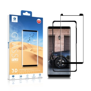 MOCOLO for Samsung Galaxy Note 8 3D Curved Tempered Glass Screen Protector (Opening on Top) with Installation Tray - Black