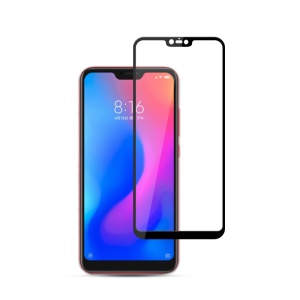 MOCOLO Silk Print Complete Coverage Tempered Glass Screen Protector for Xiaomi Redmi Note 6 / Mi 8 Lite / Mi 8 Youth (Mi 8X) - Black