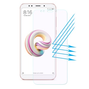 Película De Protector De Pantalla Templada De HAT PRINCE 0.26mm 2.5D Anti-blue-ray Para Xiaomi Redmi Note 5 (cámara Trasera De 12MP) / Redmi 5 Plus (china)