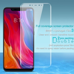 2Pcs/Set IMAK Hydrogel Film 3 Full Coverage Soft Screen Protector for Xiaomi Mi 8 (6.21-inch)