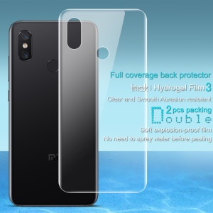 2PCS/Set IMAK Soft Hydrogel Back Cover Protector Guard Film for Xiaomi Mi 8 (6.21-inch)