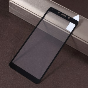 RURIHAI Solid Defense Tempered Glass Full Screen Covering Protector Film for Xiaomi Redmi 6A / Redmi 6 - Black