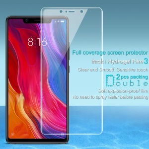 2PCS/Set IMAK Soft Clearer Hydrogel Film III Full Coverage Screen Protector Film for Xiaomi Mi 8 SE (5.88-inch)