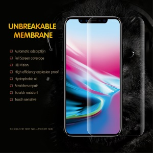6D Full Coverage Anti-explosion Soft TPU Screen Protector Film for iPhone X/Xs 5.8 inch