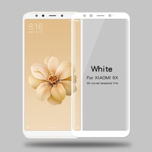 MOFI 3D Curved Tempered Glass Complete Covering Screen Protector Film for Xiaomi Mi A2 / Mi 6X - White