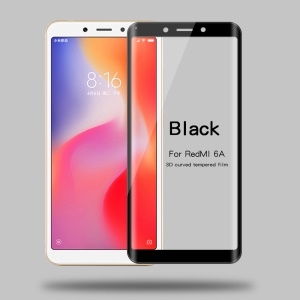 MOFI 3D Curved Tempered Glass Complete Covering Screen Protector for Xiaomi Redmi 6A (Single 12MP Rear Camera) - Black