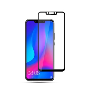 MOCOLO Silk Print Complete Coverage Tempered Glass Screen Protector for Huawei nova 3 - Black