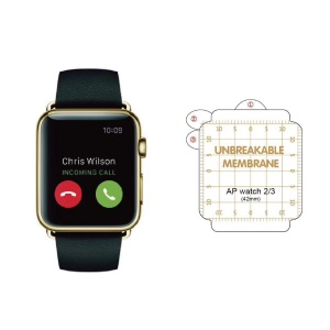 HD Anti-explosion Soft TPU Screen Guard Film for Apple Watch Series 3 / 2 / 1 42mm