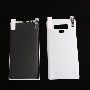 Full Cover Plated Soft PET Front + Back Curved Mobile Protector Film for Samsung Galaxy Note9 N960 - White