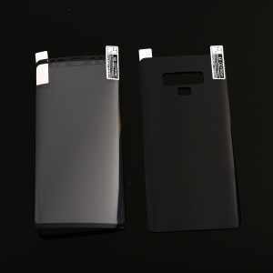 Full Coverage Plated Soft PET Front + Back Curved Mobile Protector for Samsung Galaxy Note9 N960 - Black