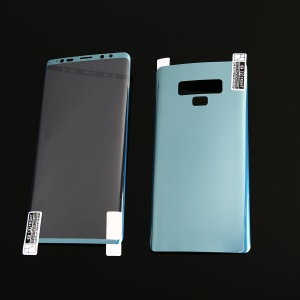 For Samsung Galaxy Note9 N960 Full Size Electroplating Soft PET Front + Back Curved Mobile Protector Film - Blue