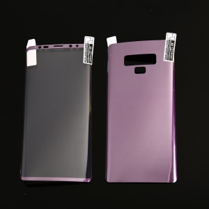 For Samsung Galaxy Note9 N960 Full Size Soft PET Plated Front + Back Curved Phone Protector Film - Purple