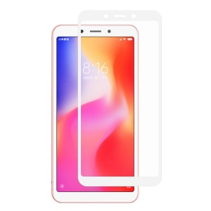 HAT PRINCE 0.26mm 9H 2.5D Arc Edge Tempered Glass Screen Protector Guard Film for Xiaomi Redmi 6A/6 - White