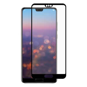 HAT PRINCE Full Glue Full Size 0.26mm 9H 2.5D Arc Edge Tempered Glass Screen Protector for Huawei P20 Pro