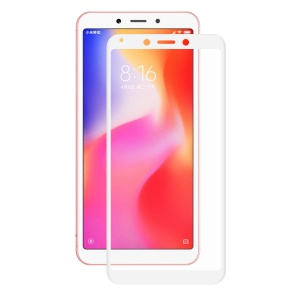 HAT PRINCE 0.2mm 3D Curved Carbon Fiber Edges Full Size Tempered Glass Screen Protector Film for Xiaomi Redmi 6A/6 - White