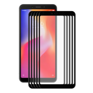 5PCS/Lot HAT PRINCE 0.2mm 3D Curved Carbon Fiber Edges Full Size Tempered Glass Screen Protector for Xiaomi Redmi 6A/6 - Black