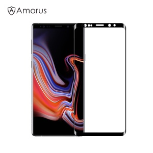 AMORUS for Samsung Galaxy Note9 N960 Full Size Full Glue Curved Tempered Glass Screen Protector Shield Film