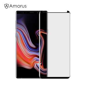 AMORUS Curved Tempered Glass Screen Protector Guard Film for Samsung Galaxy Note 9 (Opening on Top)