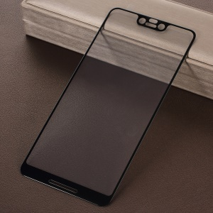 Full Cover Heat Bending Tempered Glass Screen Protector for Google Pixel 3 XL - Black