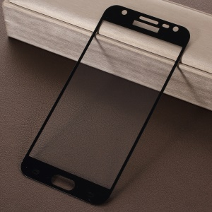 RURIHAI 0.26mm 2.5D Curved Tempered Glass Full Size Screen Protector Film for Samsung Galaxy J3 Pro - Black
