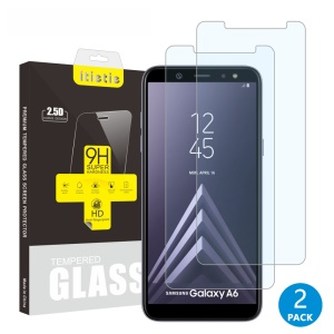 2Pcs/Set ITIETIE 2.5D 9H Tempered Glass Screen Protector Guard Film for Samsung Galaxy A6 (2018)
