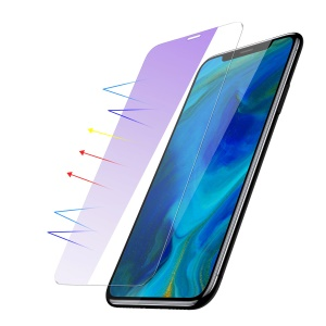 BASEUS 0.15mm Secondary Hardening Full-glass Anti-bluelight Tempered Glass Film for iPhone 11 6.1 inch (2019) / XR 6.1 inch - Transparent