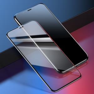 "BASEUS 0.23mm 9H Full Size Curved Tempered Glass Screen Protector for iPhone 11 6.1"" (2019) / XR 6.1 inch - Black"
