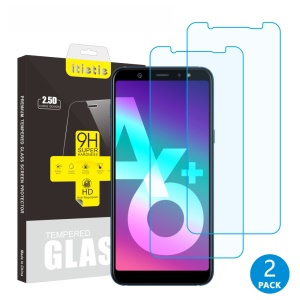 2Pcs/Set ITIETIE 2.5D 9H Tempered Glass Screen Protectors for Samsung Galaxy A6+ (2018)/A9 Star Lite
