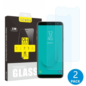 2Pcs/Set ITIETIE 2.5D 9H Tempered Glass Screen Protector Film for Samsung Galaxy J6 (2018)