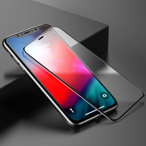 BASEUS 0.3mm Rigid-edge Curved Tempered Glass Full Screen Protective Film for iPhone Xs Max 6.5 inch - Black