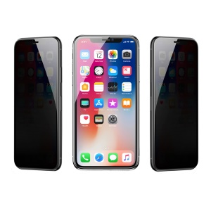 BASEUS 0.3mm Rigid-edge Curved Anti-peep Privacy Full Screen Tempered Glass Protector for iPhone XR 6.1 inch - Black