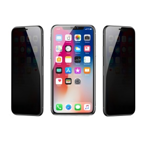 BASEUS 0.3mm Rigid-edge Curved Anti-peep Privacy Full Screen Tempered Glass Protector for iPhone Xs Max 6.5 inch - Black