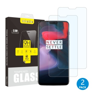 2Pcs/Set ITIETIE 2.5D 9H Tempered Glass Screen Protector for OnePlus 6