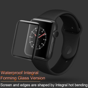 IMAK 3D Curved Full Cover Tempered Glass Screen Protector Film (Waterproof Version) for Apple Watch Series 3/2/1 42mm