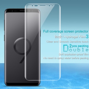 2Pcs/Set IMAK Soft Clearer Hydrogel Film III Full Coverage Screen Protector Film for Samsung Galaxy S9+ SM-G965