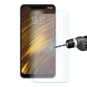 5PCS HAT PRINCE 0.26mm 9H 2.5D Arc Edges Tempered Glass Screen Protector for Xiaomi Pocophone F1 / Poco F1 (India)