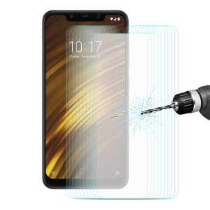 10PCS ENKAY 0.26mm 9H 2.5D Arc Edges Tempered Glass Screen Guard Film for Xiaomi Pocophone F1 / Poco F1 (India)