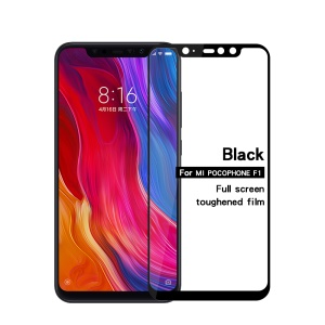 MOFI 2.5D 9H Full Size Tempered Glass Screen Protector for Xiaomi Pocophone F1 / Poco F1 in India - Black