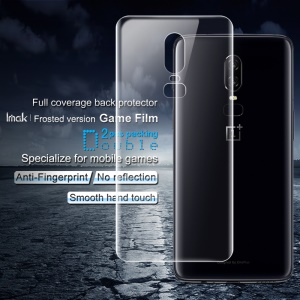 2PCS IMAK Frosted Hydrogel Game Film Mobile Phone Back Film for OnePlus 6