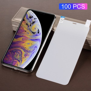 100PCS/Pack Full Coverage Anti-glare Matte Screen Protector Film for iPhone Xs Max 6.5 inch