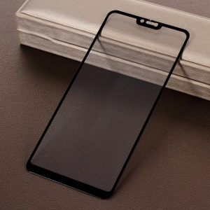 Silk Printing Full Covering Tempered Glass Protector Guard for Xiaomi Xiaomi Redmi Note 6 Pro Pro - Black