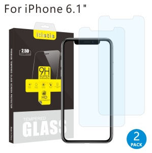 2Pcs/Set ITIETIE 2.5D 9H Tempered Glass Screen Protector Film for iPhone XR 6.1 inch