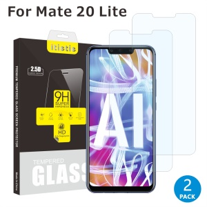 2Pcs/Set ITIETIE 2.5D 9H Tempered Glass Protection Film for Huawei Mate 20 Lite / Maimang 7