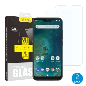 2Pcs/Set ITIETIE 2.5D 9H Tempered Glass Screen Protector for Xiaomi Mi A2 Lite / Redmi 6 Pro