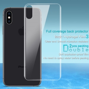 2Pcs/Set IMAK Hydrogel Film 3 [Full Coverage] [Explosion-proof] [Ultra Clear] Back Protector for iPhone XS Max 6.5 inch